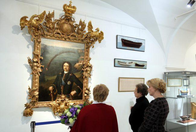 Центральный военно-морской музей ЦВММ 310 лет портрет Пётр Первый картина живопись