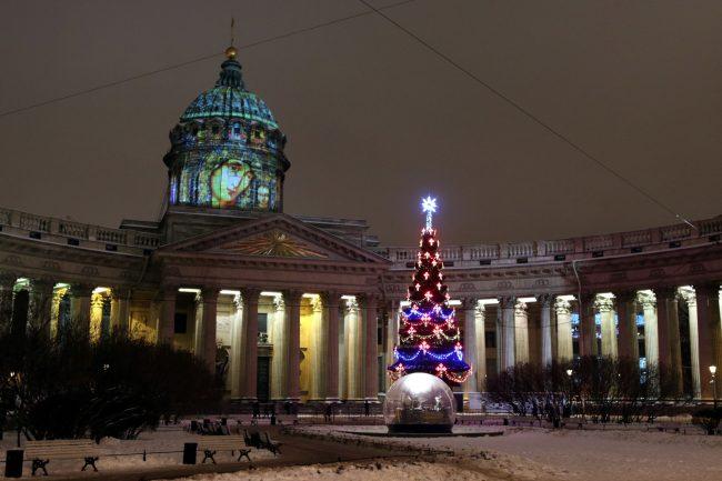 новый год 2019 новогодние праздники вертеп ёлка Казанский собор