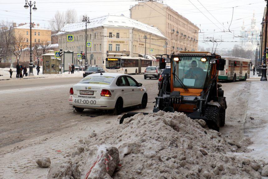 уборка снега Суворовский проспект дорожная техника