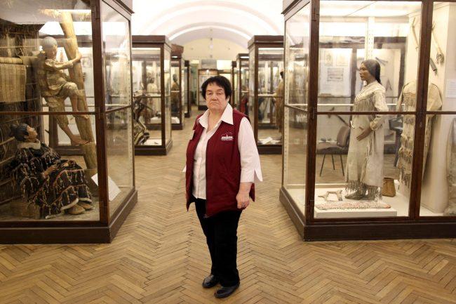 Кунсткамера музей антропологии и этнографии смотритель Вера Димова