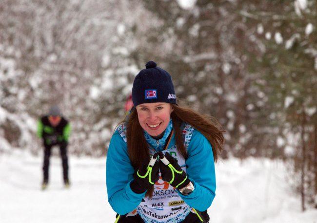 лыжный спорт токсовский марафон красивая девушка спортсменка