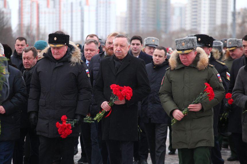 Возложение цветов, 23 февраля, Беглов