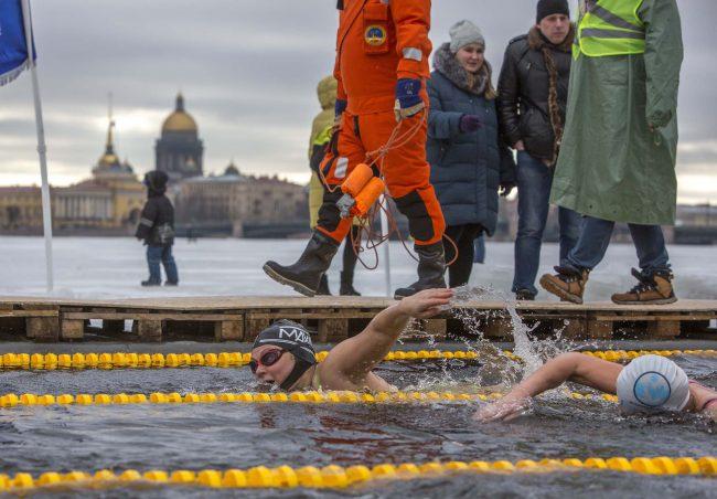 Кубок Большой Невы 2019 зимнее плавание спорт