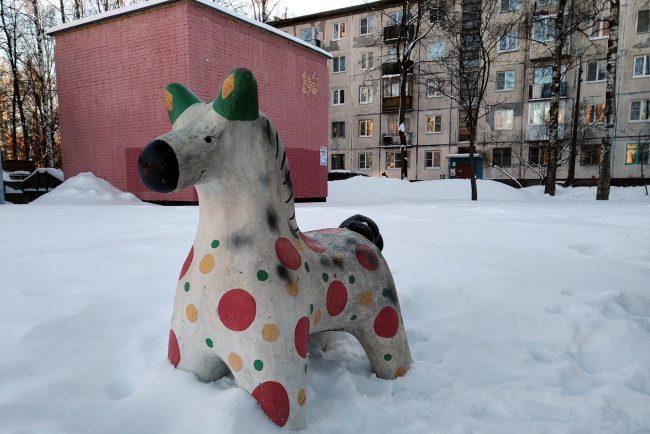 скульптура лошадка дымковская игрушка