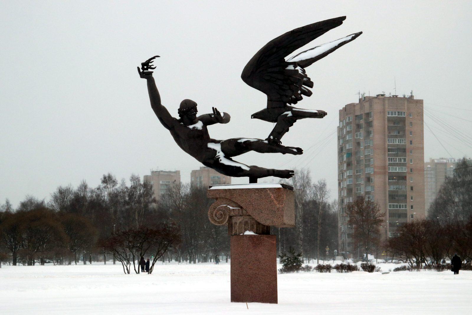 скульптура Прометей похищение огня проспект Просвещения