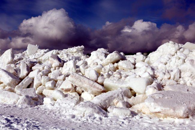 торосы лёд финский залив