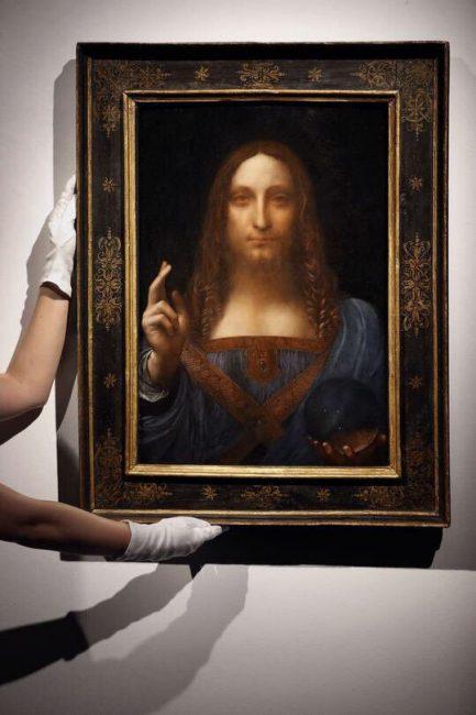"картина ""Спаситель мира"" Леонардо да Винчи"