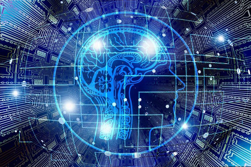 искусственный разум, мозг, компьютерные схемы