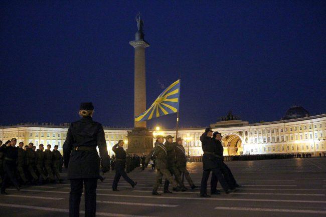 парад Победы репетиция военные армия Дворцовая площадь