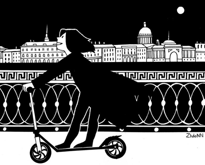 Петербург, набережная, комикс