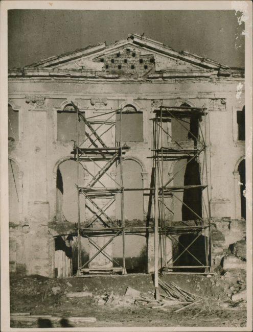 Восстановление Большого дворца начало 1950-х
