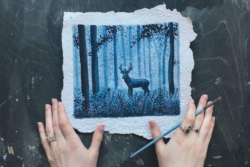 «Чек сохраните»: как петербургская художница создаёт картины из кассовых рулонов