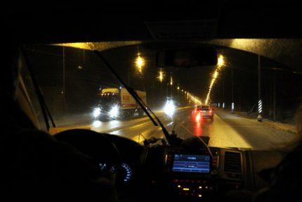 Московское шоссе ночная дорога водитель автомобиль безопасность дорожного движения