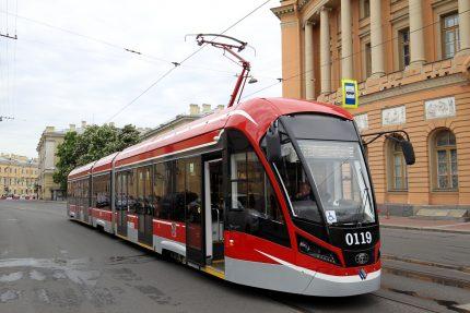 общественный транспорт фестиваль SpbTransportFest трамвай Витязь-М