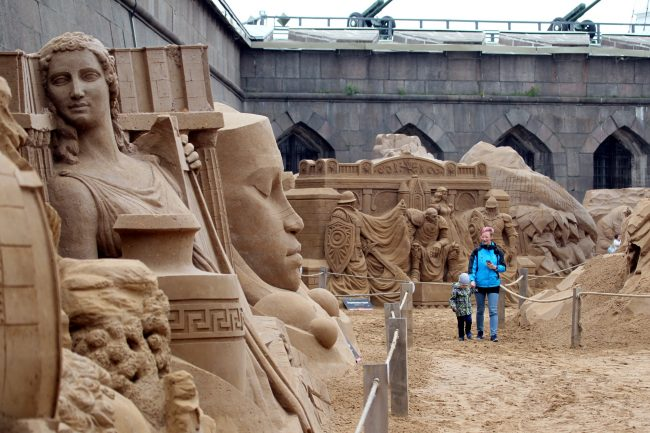 фестиваль песчаных скульптур Атлантида Душа Вселенной
