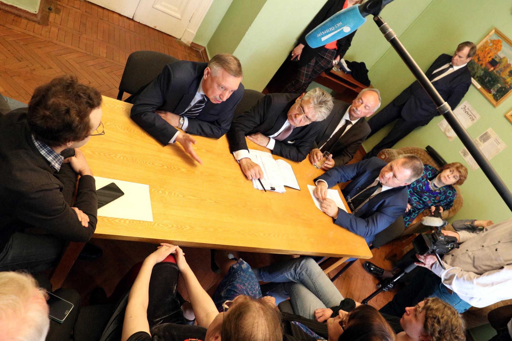 Пулковская обсерватория Беглов Сергеев РАН встреча с активистами