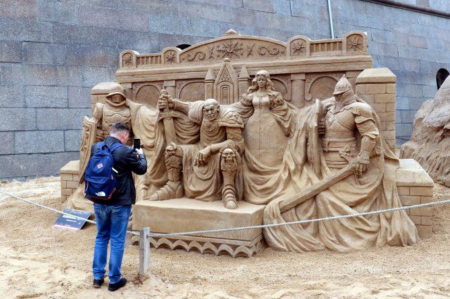 фестиваль песчаных скульптур рыцари