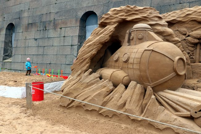 фестиваль песчаных скульптур Атлантида подводный мир