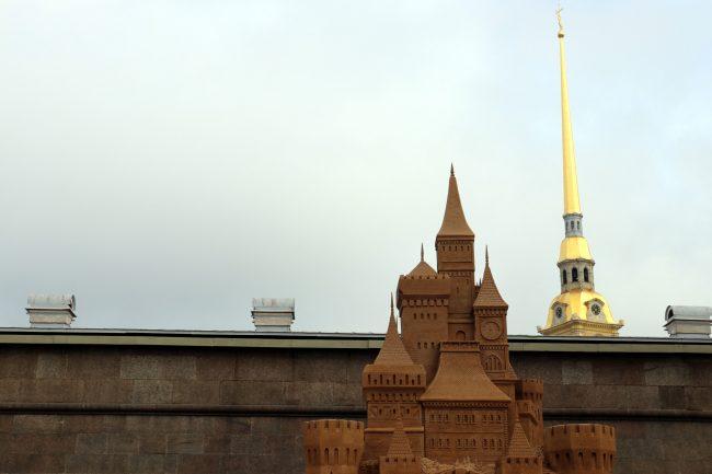 фестиваль песчаных скульптур Замок Петропавловская крепость