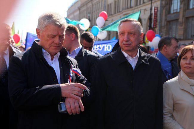 первое мая первомайская демонстрация Владимир Дербин Александр Беглов
