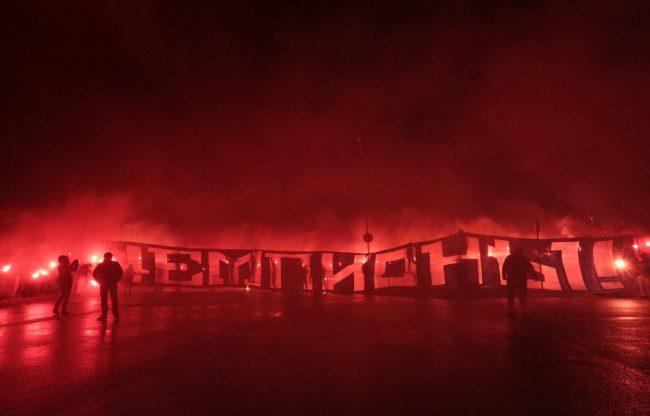 Зенит чемпион плакат файеры пулково фанаты болельщики