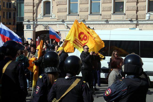первое мая первомайская демонстрация полиция ОМОН Справедливая Россия