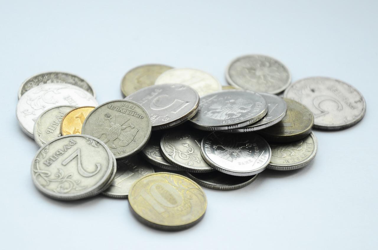 монета, деньги, мелочь, рубль
