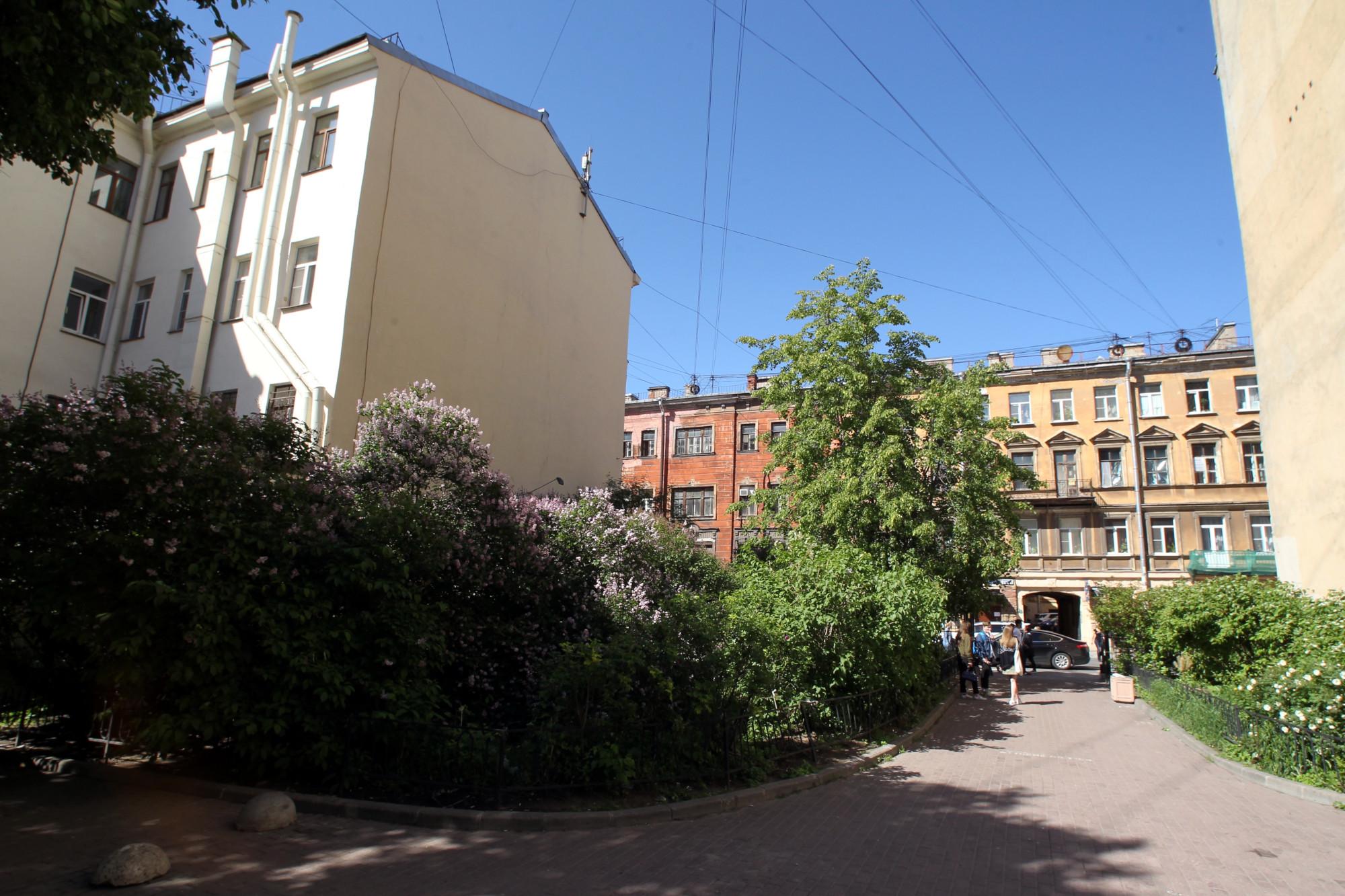 Кузнечный переулок сквер зелёная зона двор