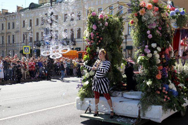 фестиваль цветов мыльные пузыри