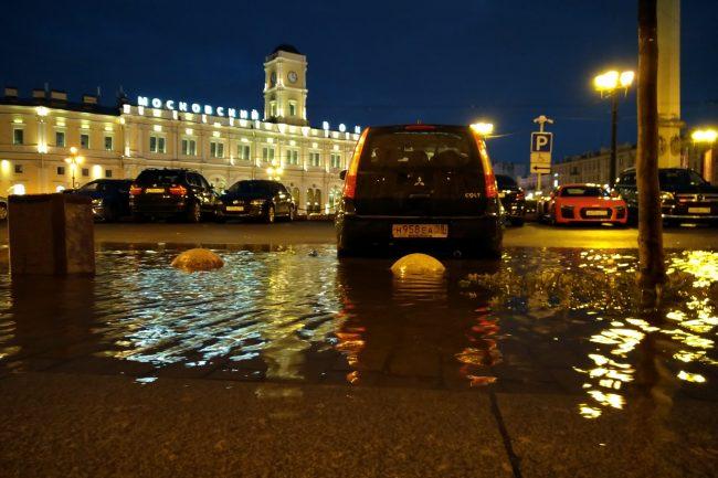 подтопление дождь площадь Восстания Московский вокзал
