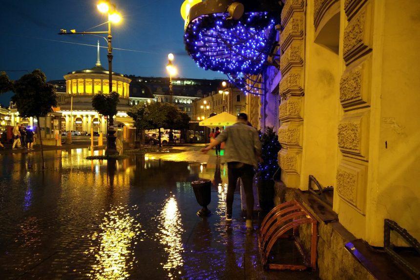 подтопление дождь площадь Восстания