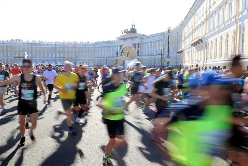 марафон Белые ночи бег спорт лёгкая атлетика