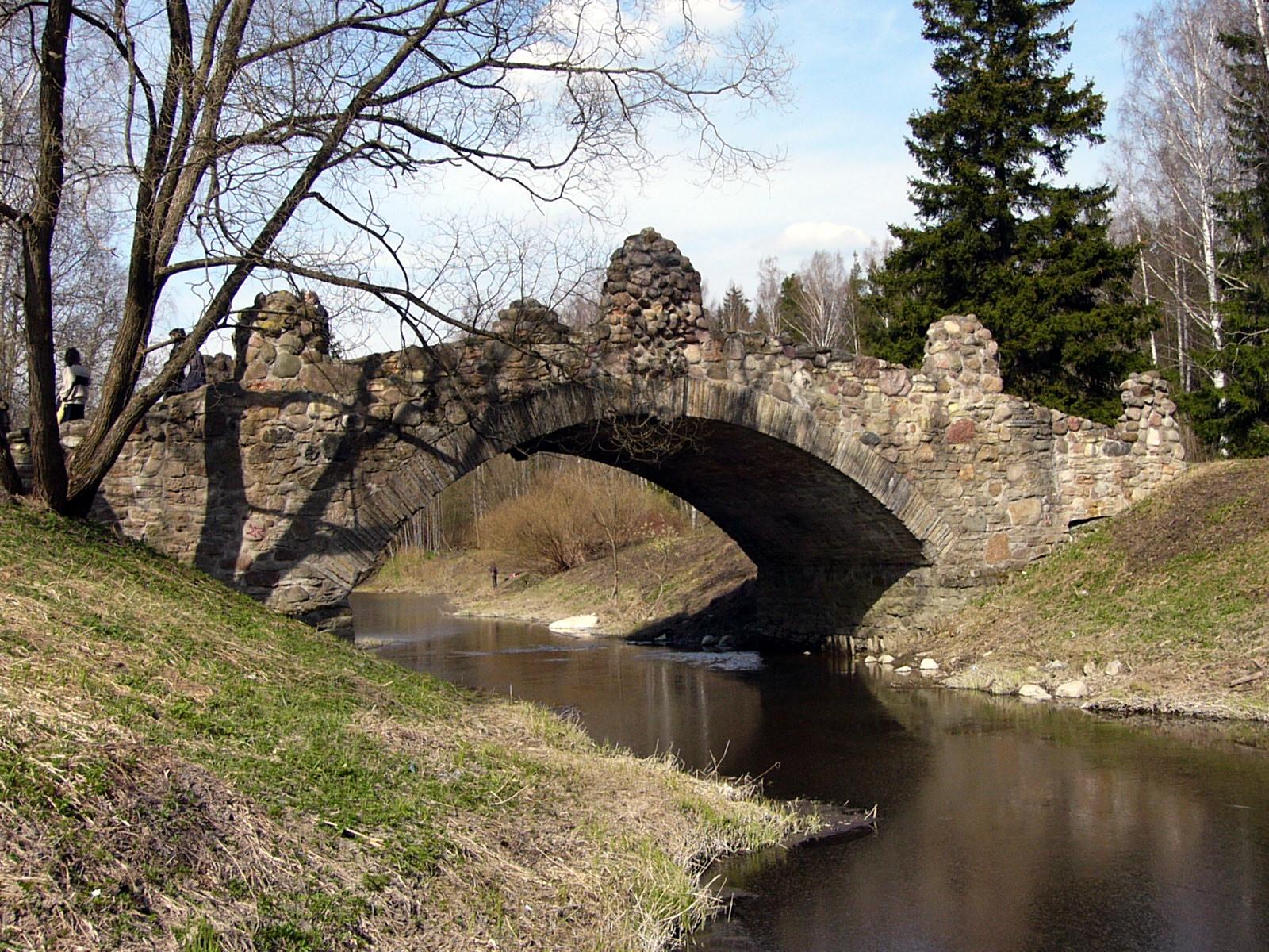 Павловский парк река Славянка Новосильвийский мост