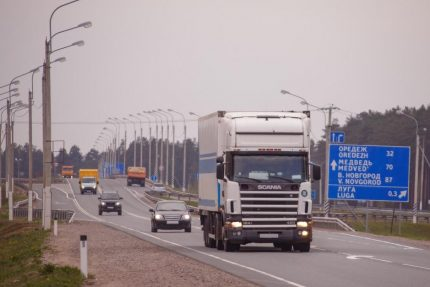 большегруз дороги грузовик