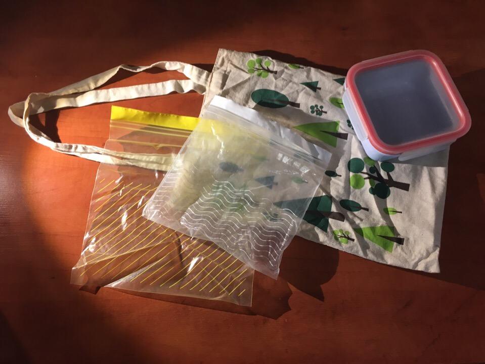 эко-сумка контейнер для еды мешочки для фруктов