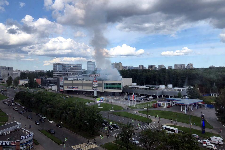 пожар торговый центр капитолий