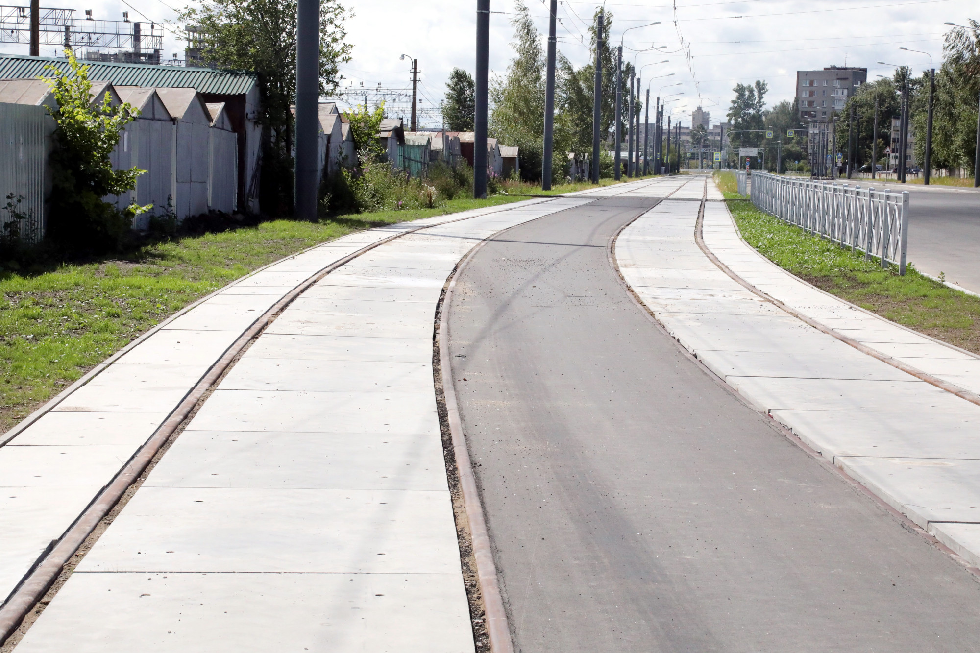 Гранитная улица трамвайные пути