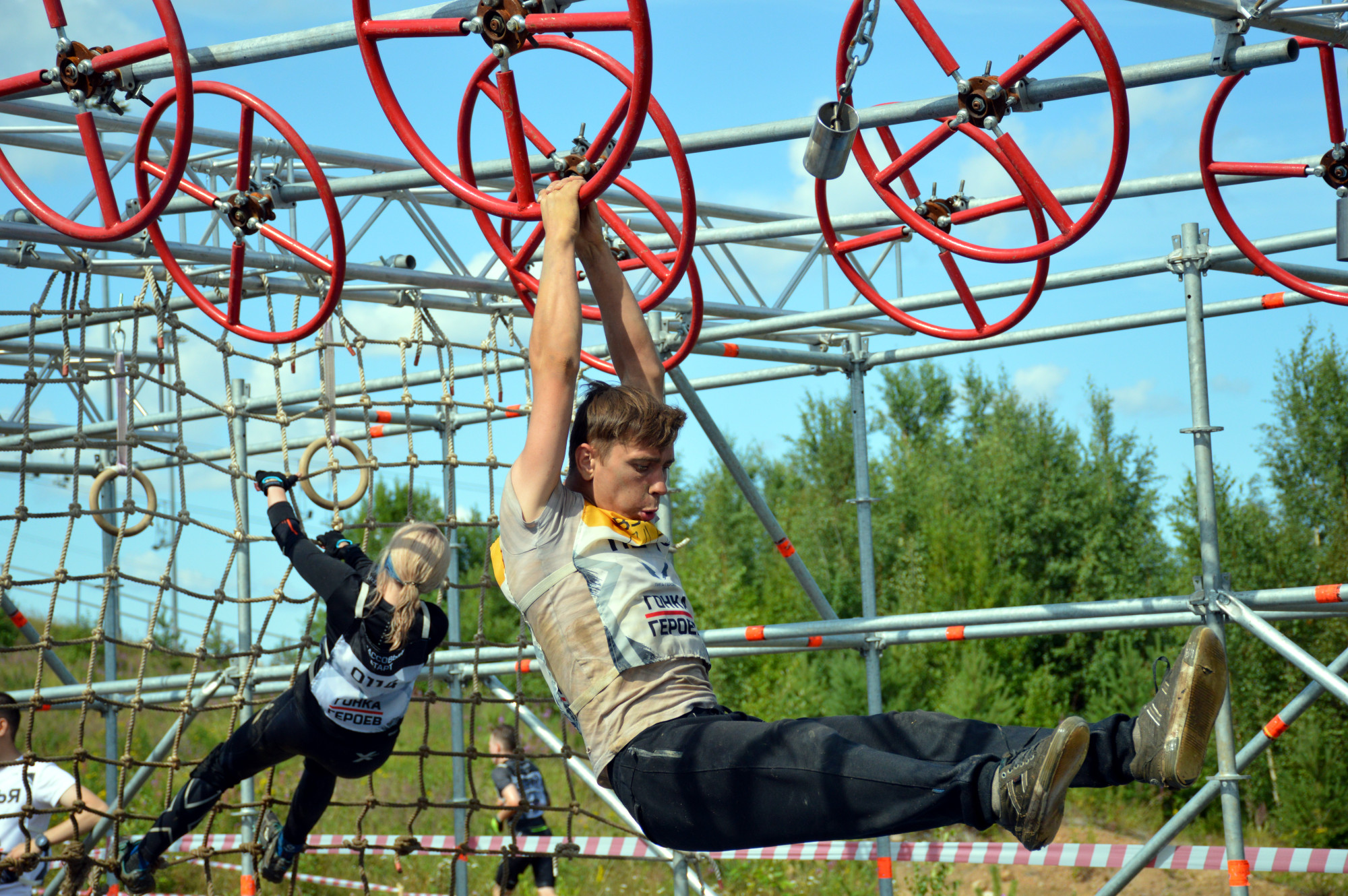 Гонка героев спорт лёгкая атлетика бег полоса препятствий