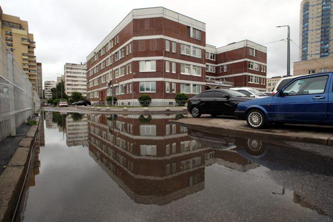 подтопление дождь Коломяжский проспект