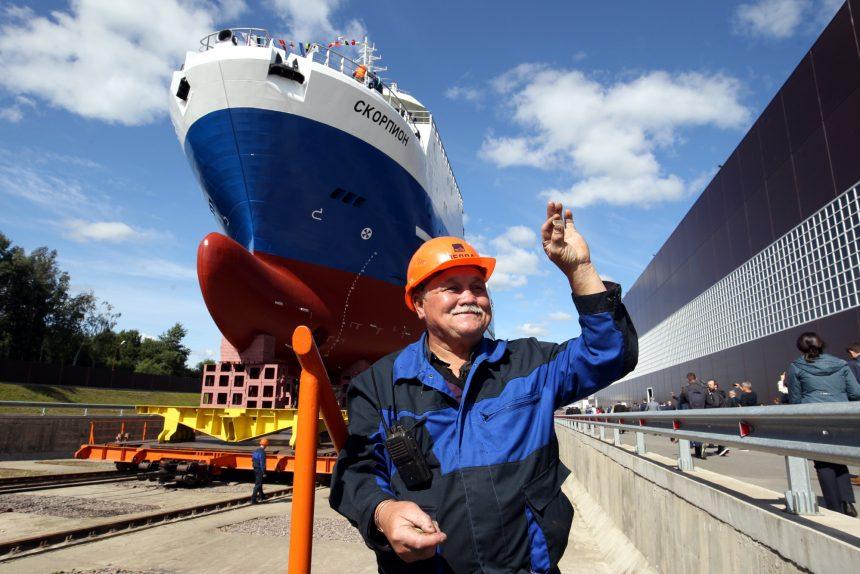 судостроительный завод Пелла кораблестроение траулер Скорпион рабочие
