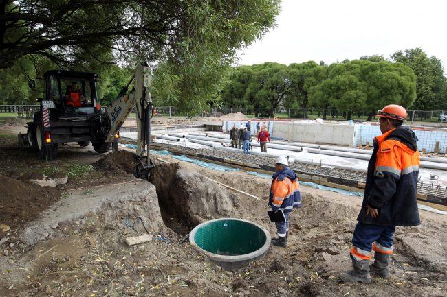 реконструкция фонтана в Любашинском саду