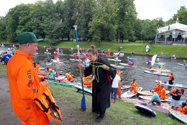 фестиваль Фонтанка SUP серфинг