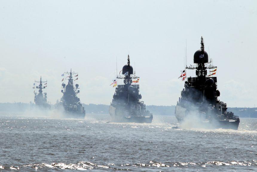 репетиция парада день ВМФ военно-морской флот корабли