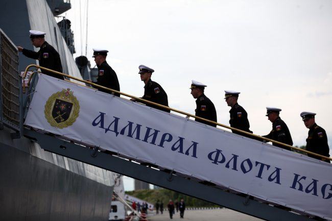 Военно-морской салон моряки фрегат Адмирал Касатонов