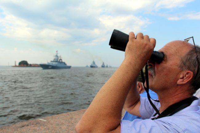 день ВМФ Главный парад кораблей бинокль