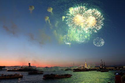день ВМФ фейерверк