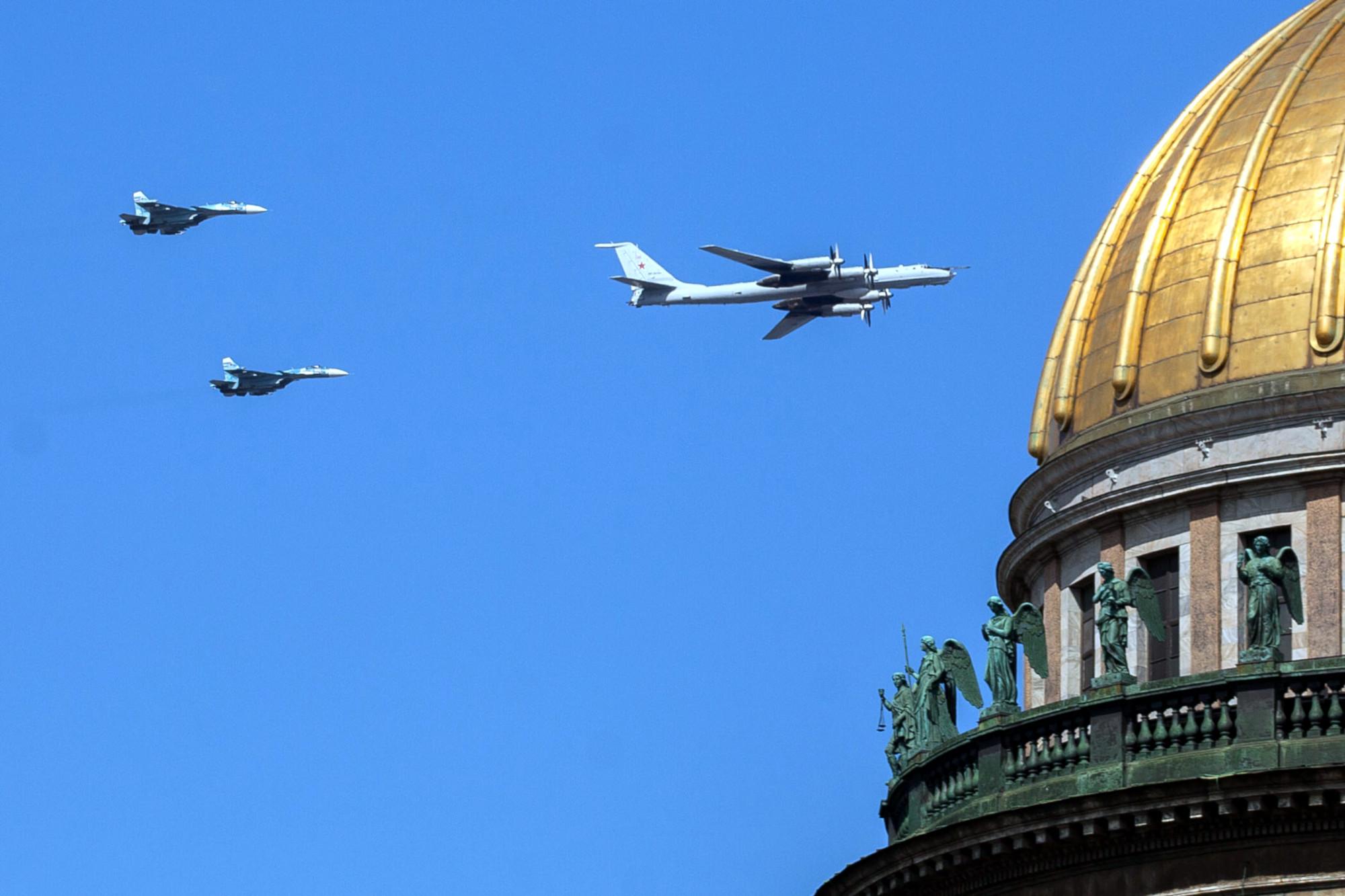 репетиция парада день ВМФ военная авиация самолёты