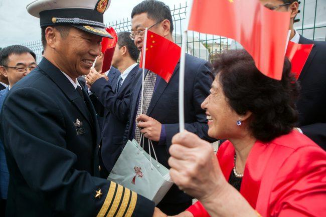 эсминец Сиань ВМС Китая военный корабль флот моряки офицеры китайцы