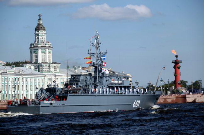 военные день ВМФ репетиция моряки тральщик Иван Антонов