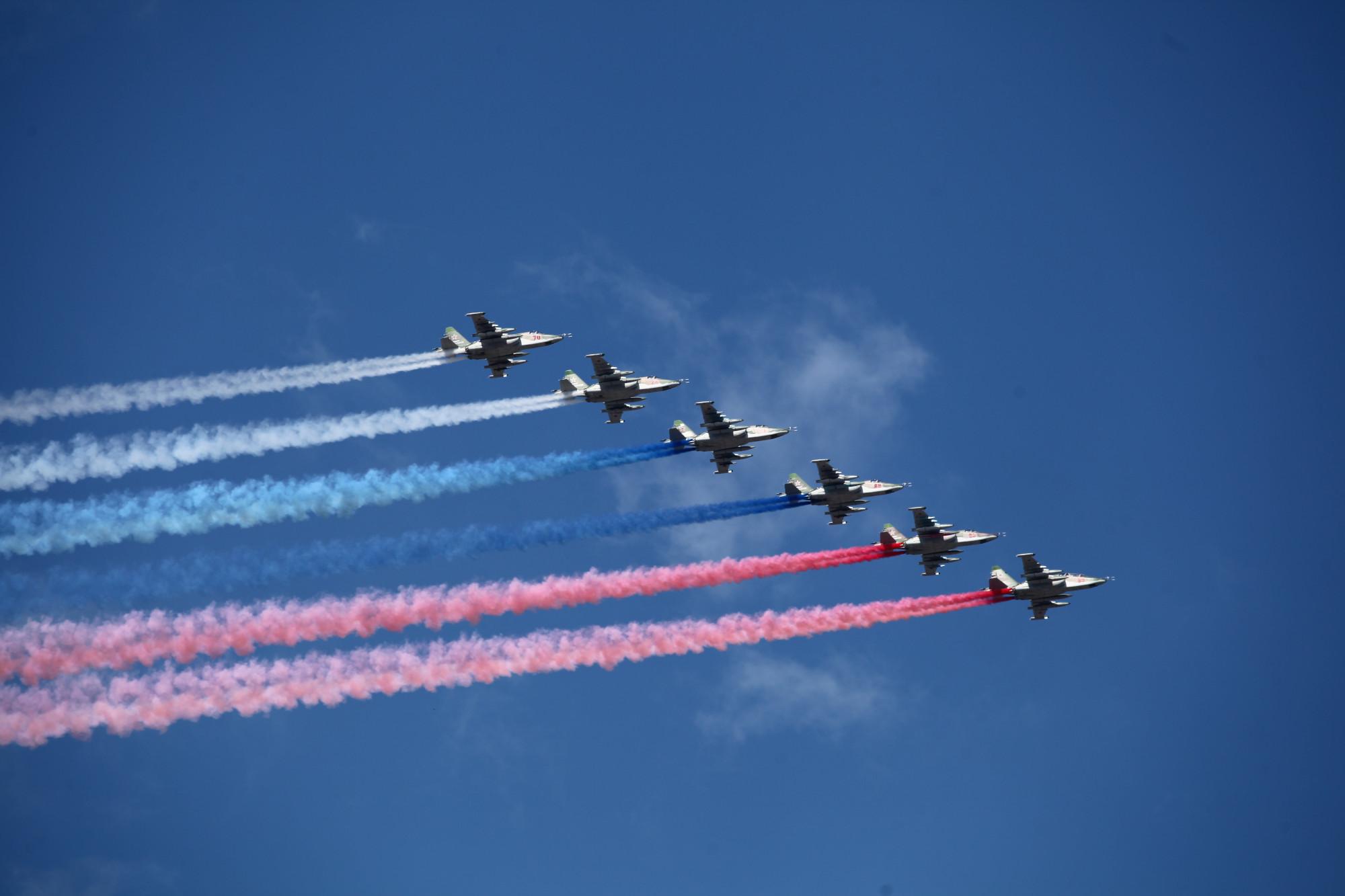 самолёты авиация день ВМФ триколор флаг России